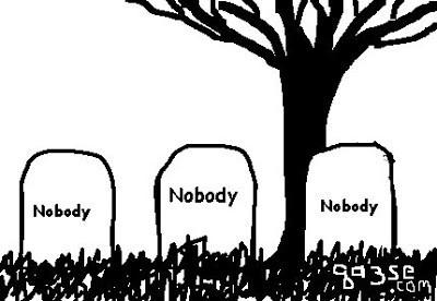 Des tombes anonymes comme illustration des crises existentielles